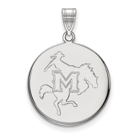 McNeese State  Large Disc Pendant