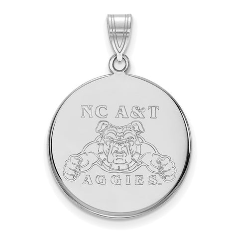 North Carolina A&T Aggies Large Disc Pendant