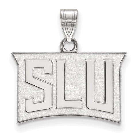 St. Louis Billikens Small Pendant 10k White Gold