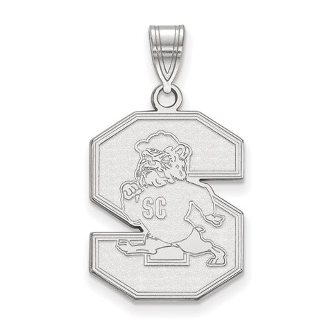 South Carolina State Bulldogs Large Pendant 10k White Gold
