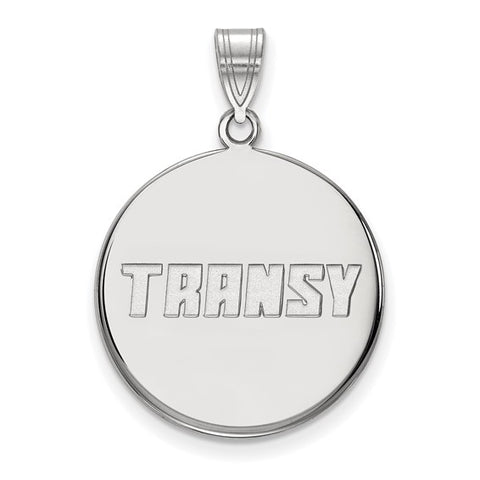 Transylvania Pioneers Large Disc Pendant 10k White Gold