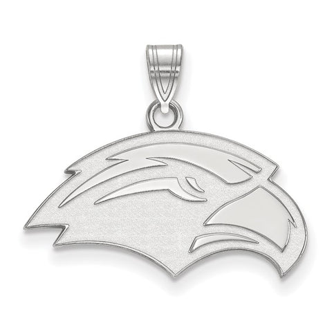 Southern Miss Golden Eagles Small Pendant 10k White Gold