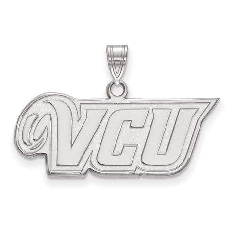 Virginia Commonwealth Rams Small Pendant 10k White Gold