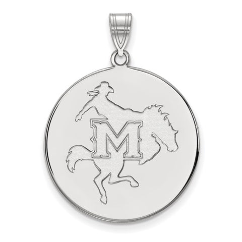 McNeese State  XL Disc Pendant