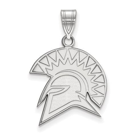 San Jose State Spartans Large Pendant 10k White Gold