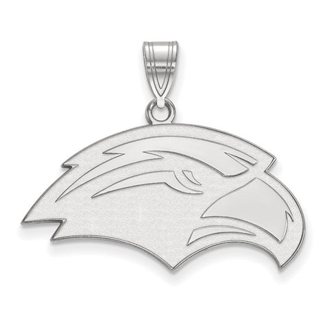 Southern Miss Golden Eagles Medium Pendant 10k White Gold