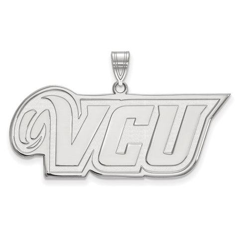 Virginia Commonwealth Rams Large Pendant 10k White Gold