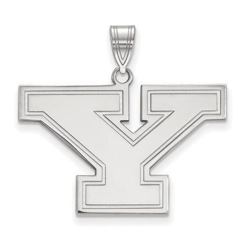 Youngstown State Penguins Large Pendant 10k White Gold