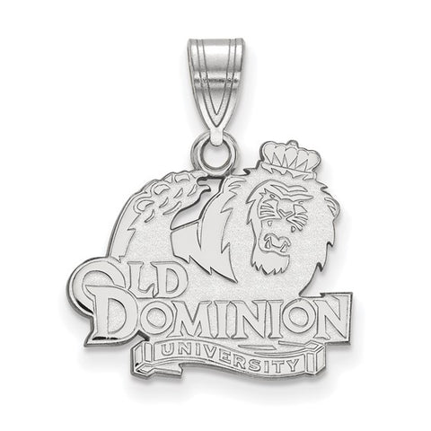 Old Dominion Monarchs Medium Pendant 10k White Gold