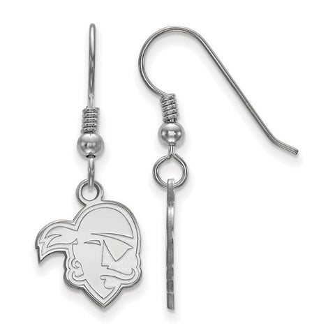 Seton Hall Pirates Small Dangle Earring Wire Sterling Silver