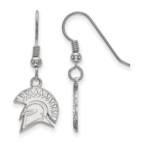 San Jose State Spartans Small Dangle Earring Wire Sterling Silver