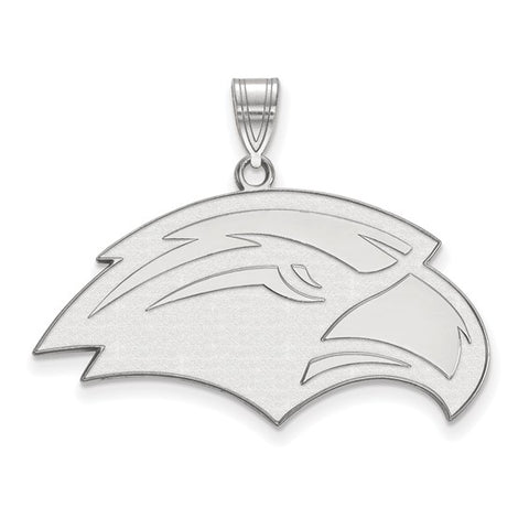 Southern Miss Golden Eagles Large Pendant 10k White Gold