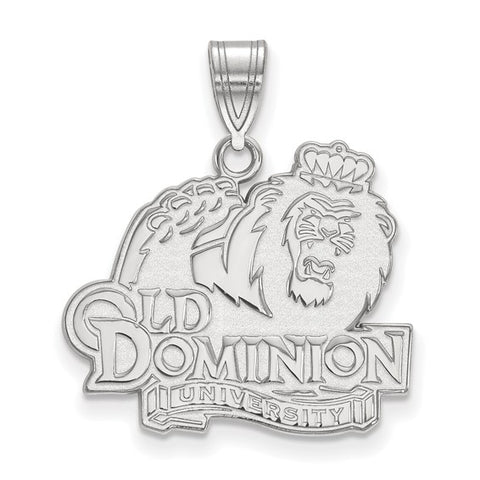 Old Dominion Monarchs Large Pendant 10k White Gold