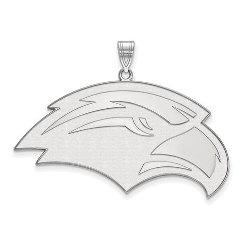Southern Miss Golden Eagles XL Pendant 10k White Gold