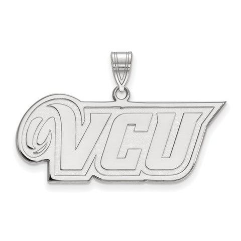 Virginia Commonwealth Rams Medium Pendant 10k White Gold
