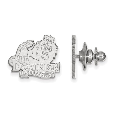 Old Dominion Monarchs Lapel Pin 14k White Gold