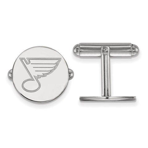 St. Louis Blues Cufflinks Sterling Silver