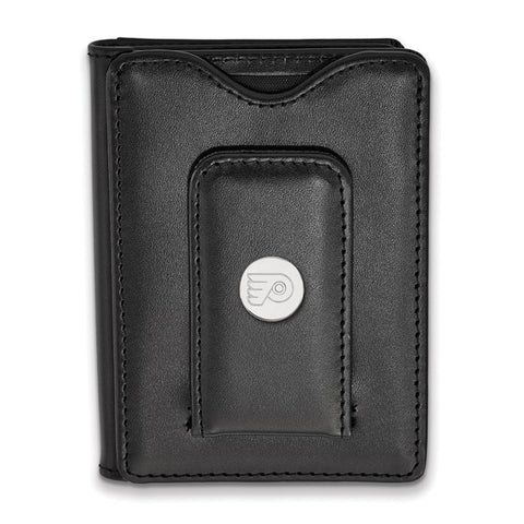 Philadelphia Flyers Black Leather Wallet