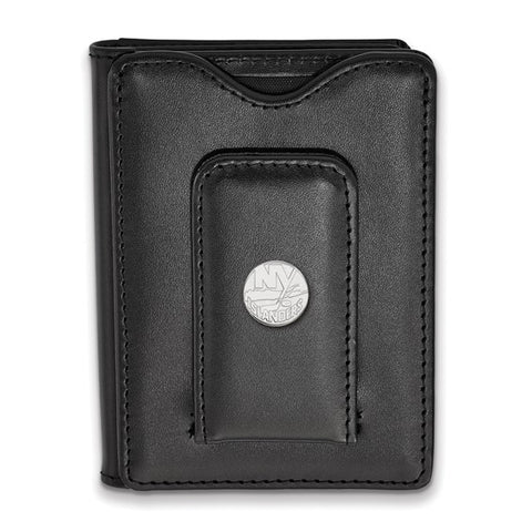 New York Islanders Black Leather Wallet