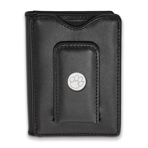 Clemson Tigers Black Leather Wallet