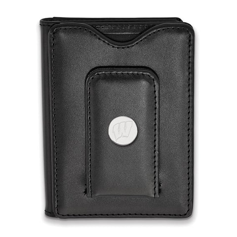 Wisconsin Badgers Black Leather Wallet