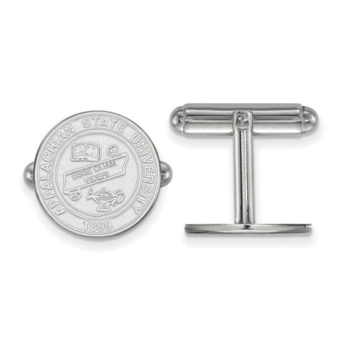 Appalachian State Mountaineers Crest Cufflinks Sterling Silver