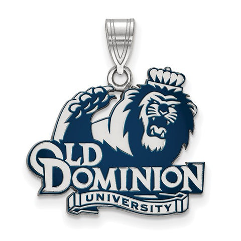 Old Dominion Monarchs Large Enamel Pendant Sterling Silver
