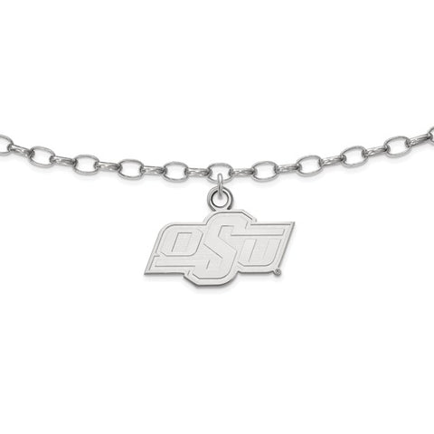 Oklahoma State Cowboys Anklet Sterling Silver