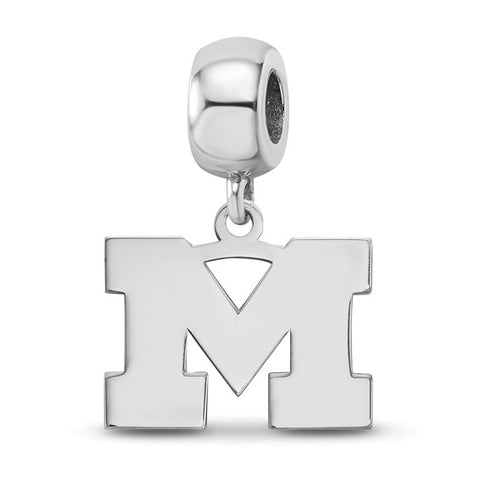 Michigan Wolverines Bead Charm Small Dangle