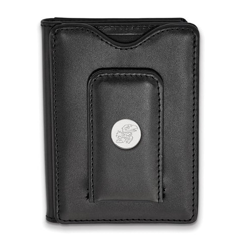 Kansas Jayhawks Black Leather Wallet