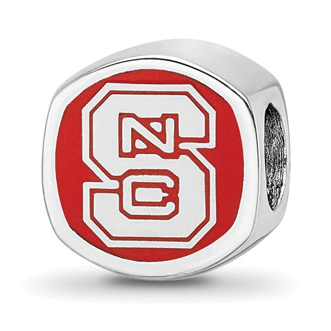 "NC State Wolfpack ""NCS"" Cushion Shape Bead"