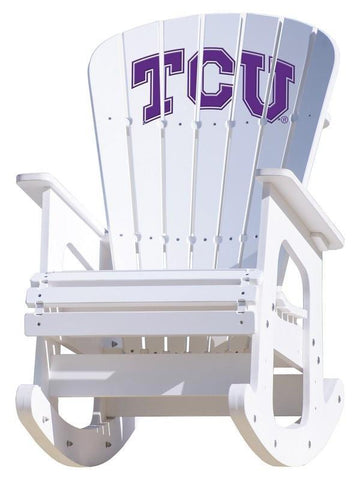 TCU Horned Frogs Adirondack Rocking Chair