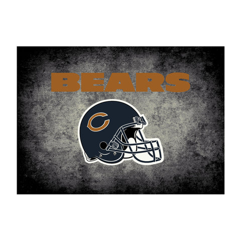 Chicago Bears 4X6 Distressed Rug