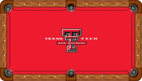 Texas Tech Pool Table Felt - Logo on Red