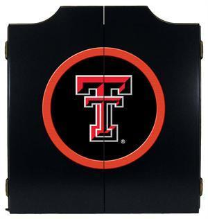 Texas Tech Red Raiders Dartboard Cabinet in Black Finish