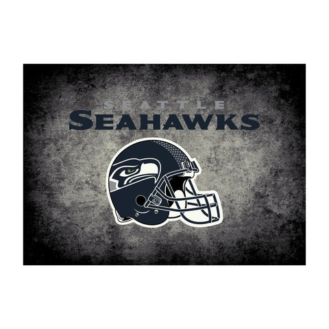 Seattle Seahawks 8X11 Distressed Rug