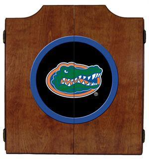 Florida Gators Dartboard Cabinet in Pecan Finish