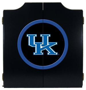 Kentucky Wildcats Logo Dartboard Cabinet in Black Finish