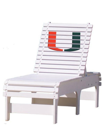 Miami Hurricanes 'U' Chaise Lounge