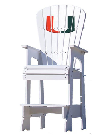 Miami Hurricanes 'U' Lifeguard Chair