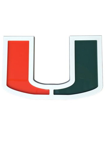 Miami Hurricanes 'U' Composite Wall Plaque
