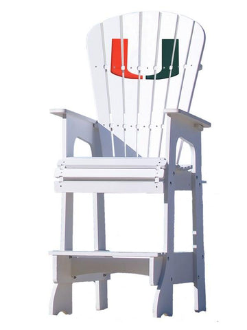 Miami Hurricanes 'U' Adirondack Bar Stool