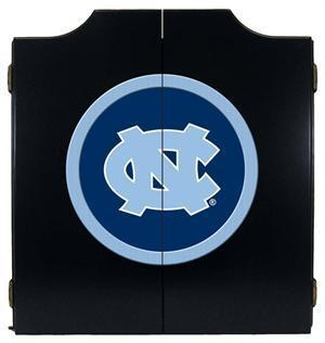 North Carolina Tar Heels Dartboard Cabinet in Black Finish