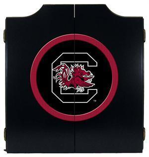 South Carolina Gamecocks Dartboard Cabinet in Black Finish