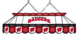 Wisconsin Badgers Tiffany Pool Table Light