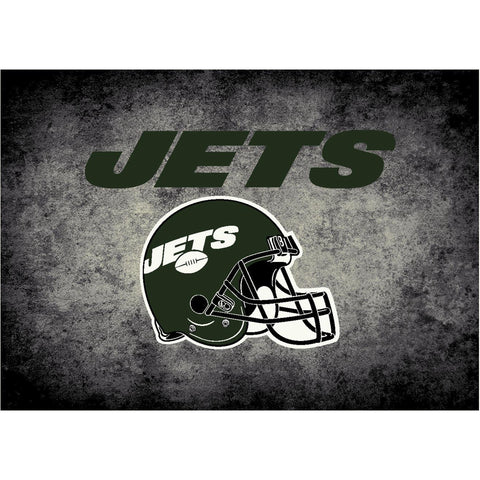 New York Jets 8X11 Distressed Rug
