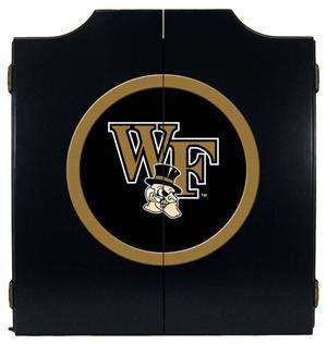 Wake Forest Demon Deacons Dartboard Cabinet in Black Finish