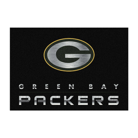 Green Bay Packers 8X11 Chrome Rug
