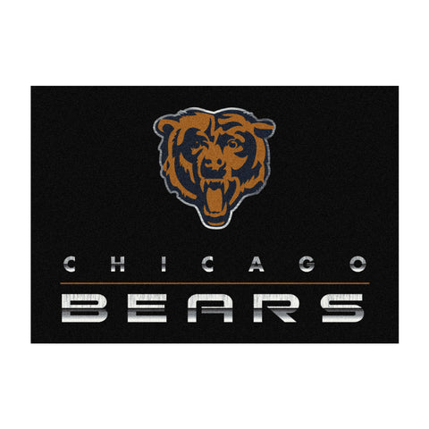 Chicago Bears 8X11 Chrome Rug