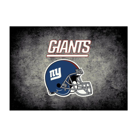 New York Giants 4X6 Distressed Rug